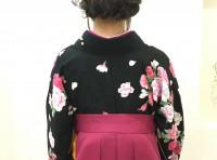 卒業式袴着付けヘアセット